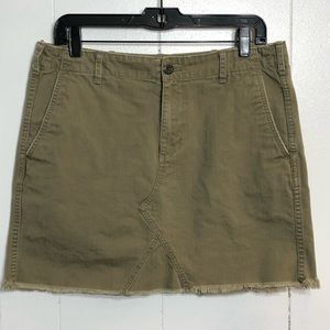 Ralph Lauren Denim&Supply Olive Jean Skirt